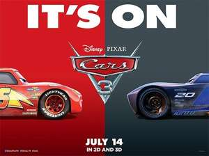 See Cars 3 this Sunday for £1.50 at all Empire cinemas apart from London