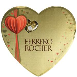 Ferrero Rocher Heart Box 10 Pieces 125g (Pack of 3, Total 30 Pieces) @ Amazon - £7.35 Prime / £11.30 non-Prime