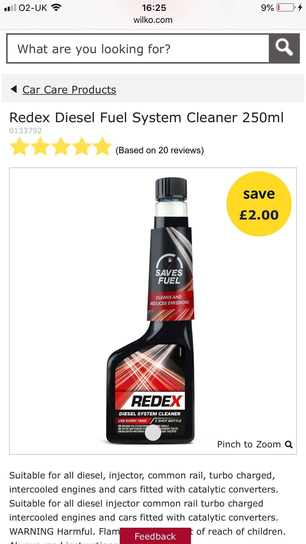 Redex Fuel System Cleaner - £2 @ Wilko