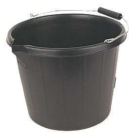 Bucket Black 14L - £1.29 @ Screwfix (Free C&C Only)