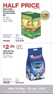 50% off Only 15p per pack of Nature Vally granola bars @ Costco
