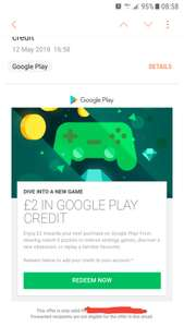 Free £2 google play credit - Check emails