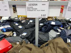 Dockers trousers by Levi's clearance £4.76 @ costco - Hayes