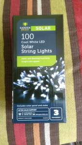 Aldi stores, 100 solar string lights - £3.99