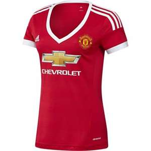 Adidas Manchester United 2015/16 Womens Home Jersey Shirt - Red (3 Sizes) - £9.99 + Free Delivery at Tesco sold by Footballshoponline