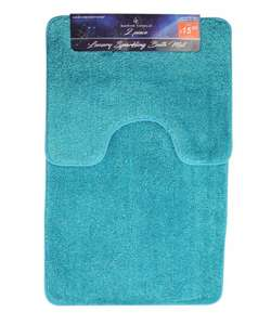 2 piece sparkle bathmat set ( choose in 10 colours ) now £9.99 @ Poundstretchers