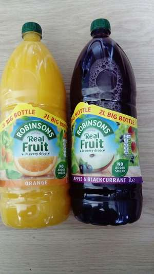 Robinsons real fruit concentrated juice 2L £1.49 Home Bargains