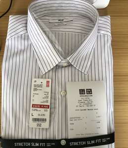 Uniqlo Glitch - Easy Care  Long sleeve Slim Fit Shirt scanning at £2.90 instore Bluewater