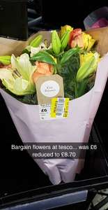 Bargain flowers at Tesco, was £6 now £8.70