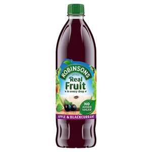 Robinsons real fruit juice Apple & blackcurrant 2 litres at £1.49 B&M