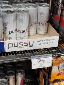 Pussy Natural Energy Drink 250ml - only 69p - Home bargains