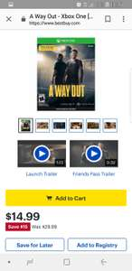 A Way Out Xbox digital download from BestBuy for £11.07
