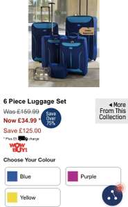 6 piece luggage set at Studio for £39.99