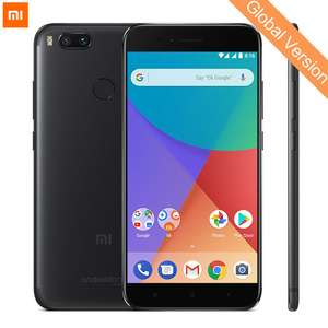 Global Version Xiaomi Mi A1 4GB 32GB Mobile Phone Snapdragon 625 Octa Core 12.0MP+12.0MP Dual Camera Android One 5.5'' 1080P £112.51 for Black @ Xiaomi Authorized Store/aliexpress