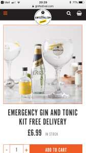 Nice little gin gift set with free delivery for £6.99