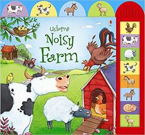 Noisy Farm (Usborne Noisy Books) Hardcover –  £3.24 (Prime) / £6.23 (non Prime) Sold by Amazon
