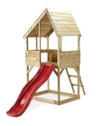 Pre-Order Wooden Lookout Playhouse with Slide / Sandpit £179.99 Delivered at Aldi (dispatch 20th May)