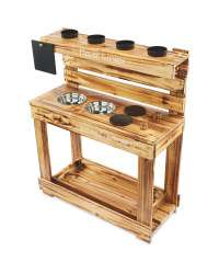 Pre-order Little Town Wooden Mud Kitchen for £49.99 Delivered at Aldi - dispached from 20th May