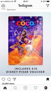 Buy Coco for £13.99 on the sky store, get the dvd and a digital version and also get £10 off any other Disney film on  Sky Store