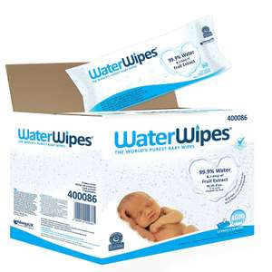 WaterWipes Sensitive Baby Wipes, 60 Count, Pack of 18 (1080 Wipes Total) £22.32 @ Amazon