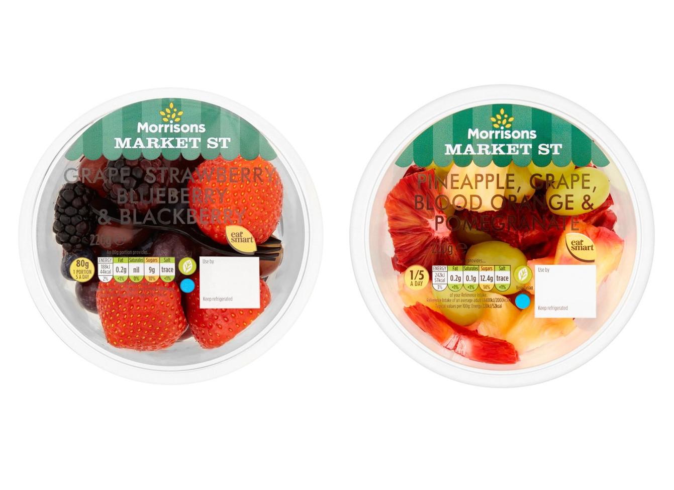 Blood Orange Pomegranate Grape & Pineapple / Grape, Strawberry & Blackberry 220g only 50p @ Morrisons