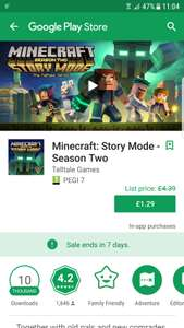 Minecraft Story Mode Season 2 EPISODE ONE For Android @ £1.29 From  £4.39