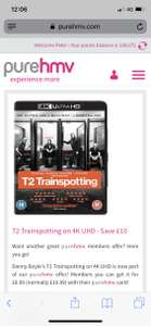 Trainspotting 2 4k uhd £9.99 instore at hmv ( pure members only)