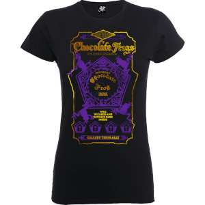 Harry Potter Honeydukes Purple Chocolate Frogs Women's & Mens T-Shirts in Black now £9.99 Delivered w/code @ MyGeekBox