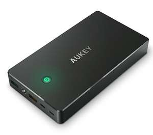 AUKEY 20000 mAh Quick Charge 2.0 Power Bank with 20 cm Micro USB Cable for iPhone 7/Samsung/Kindle/Speakers £13.99 prime / £18.48 non prime Sold by AUKEY direct and Fulfilled by Amazon