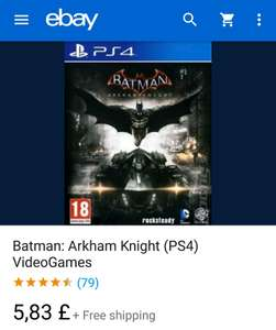 Batman : Arkham night (PS4) £5.83 musicmagpie / Ebay