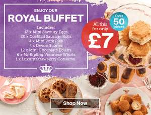 Royal Party Afternoon tea buffet £7 @ Iceland