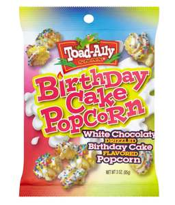 Toad Ally Birthday Cake Popcorn 29p or 4 for £1 Fultons