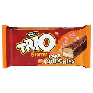 McVitie's Trio 5 Toffee Cake Crunchies 75p at Iceland