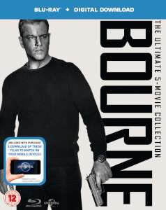 THE BOURNE COLLECTION (INCLUDES ULTRAVIOLET COPY) Blu-ray @ Zavvi - £12.98 Delivered
