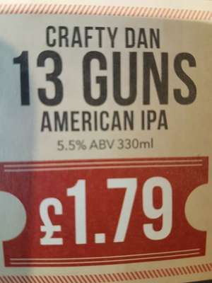 Wetherspoons Monday club... Can of 13 guns ipa only 1.79