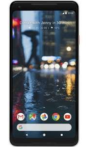Google Pixel 2 XL 64GB £49.99 upfront Available in 2 colours uSwitch exclusive  24 month contract 4G 5000 minutes 1000 texts 5GB data £29.99 per month £769.75 total cost @ ID Mobile (Via Uswitch)