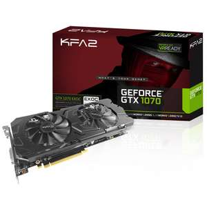 KFA2 GEFORCE GTX 1070 EX OC 8192MB GDDR5 GRAPHICS CARD £349.99 @ Overclockers