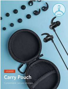 Anker SoundBuds Slim+ Wireless Headphones, Bluetooth 4.1 Lightweight Stereo Earbuds with aptX High Resolution HD Sound and Customizable Accessories, IPX5 Waterproof £18.74 Prime £21.73 Sold by AnkerDirect and Fulfilled by Amazon.