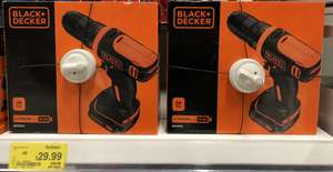 Black & Decker BDCDD12 Cordless Drill 2 Years Warranty + Drill Bits was £50 now £29.99 at Asda also Angle Grinder, Mouse Sander, Screwdriver, Jigsaw at reduced price