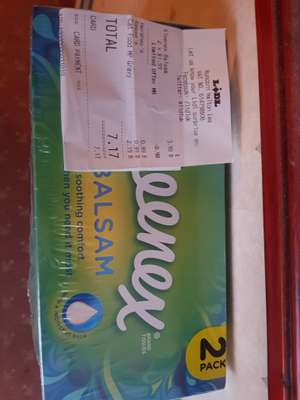 Kleenex balsam 2 * 2 packs - £3 (75p a box) in store @ Lidl