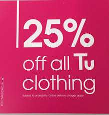 25% off TU clothing @ Sainsburys NOW Live