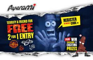 PEPERAMI OFFERS 2 FOR 1 ENTRY TO THORPE PARK & ALTON TOWER RESORTS