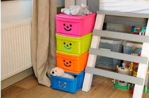Iris Children's Smiley Orange 12L Plastic Stackable Drawer now £2.80 each @ B&Q