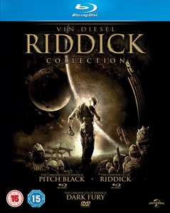 The Riddick Collection Blu-ray All 3 movies £6.99 delivered @ Zavvi