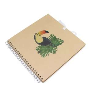 Spiral Bound Kraft Toucan Scrapbook 12 x 12 Inches Half price £3 Hobbycraft