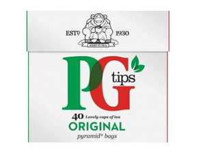 PG Tips pyramid 40 tea bags Buy 1, get £1.35 cashback  @ clicksnap (invite only)
