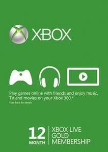 Xbox Live Gold 12 Month Subscription (Brazil Region) Activate via VPN £24 odd inc PayPal Fees @ Gamesdeal