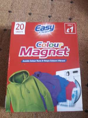 Same as colour catchers but 3rd of the price! £1 @ Poundstretcher
