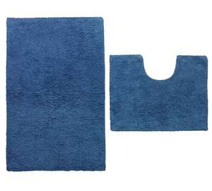 2x Bath mat set of 2 eg ColourMatch Bath and Pedestal Mat Set - Ink Blue £15 @ Argos