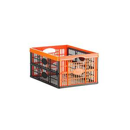 B&Q Black 32L Plastic Folding Crate only £1.80 (Reserve online)